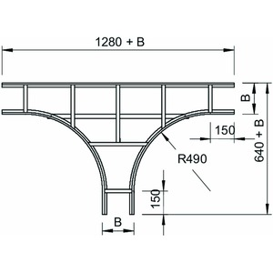 LT 630 VS FT, T-Stück für Kabelleiter mit VS Sprosse 60x300, St, FT