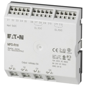 MFD-R16, E/A-Modul für MFD-Titan MFD-CP8/CP10, 24VDC, 12DI(4AI), 4DO-Relais