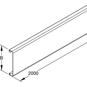 LD 60, Leitungsschutzkanaldeckel, 60x2000 mm, Stahl, bandverzinkt DIN EN 10346