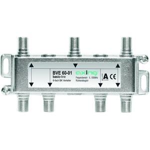 Verteiler 6-fach, 5-1006 MHz, F-Stecker, brummentstörte Ein- und Ausgänge