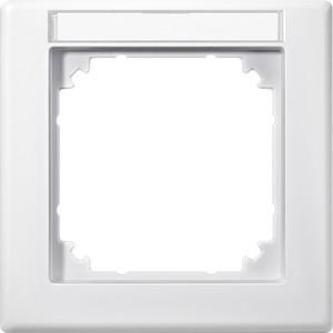 M-SMART-Rahmen, 1fach mit Beschriftungsträger, polarweiß