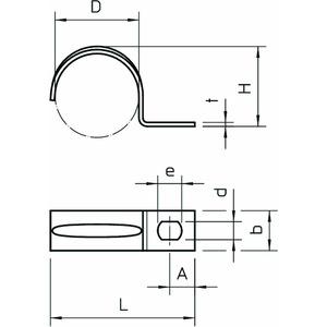 604 35 G, Befestigungsschelle einlappig 35mm, St, G