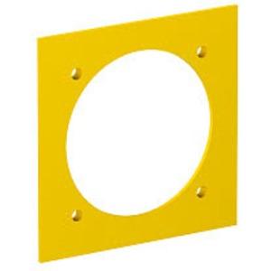 VH-P3, Abdeckplatte für CEE-Steckdose gelocht Durchmesser 63,5mm 5-polig rapsgelb