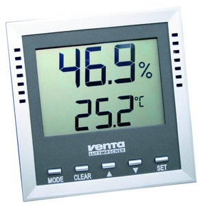 Digital-Thermo-Hygrometer anthrazit
