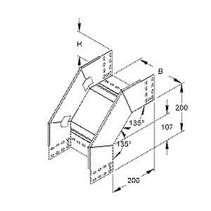 RFD 110.100, Fallstück für KR, 110x102 mm, mit ungelochten Seitenholmen, Stahl, bandverzinkt DIN EN 10346, inkl. Zubehör
