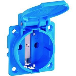 SCHUKO Einbausteckdose, blau, IP54, mit Schraubanschluss
