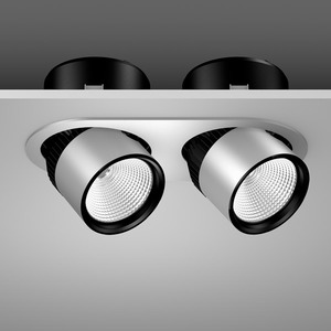 Einbaustrahler LED/54W-3000K,2lp. 360x180, DALI, 5800 lm