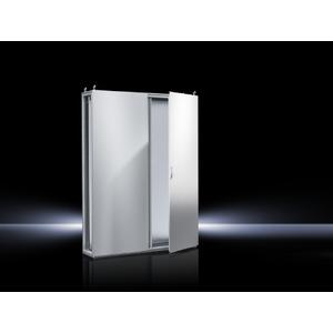 TS 8284.500, Topschrank-System lackiert zweitürig, mit Montageplatte, RAL 7035, TS 8284500
