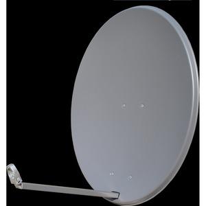 Offsetspiegel, Alu, vormontiert, 80cm, anthrazit, premium
