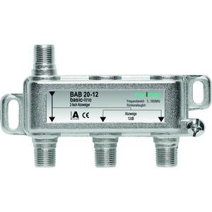 Abzweiger, 2-fach, 10 dB, 5-1006 MHz, F-Stecker, hohe Rückflussdämpfung, basic