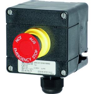 GHG 411 8100 R0002, EX-Befehlsgerät, Schlagtaster SGT, NOT-AUS, 1 Schliesser und 1 Öffner