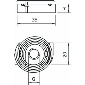 MS41SNF M12 F, Gleitmutter mit Feder für Profilschiene MS4121/4141 M12, St, F
