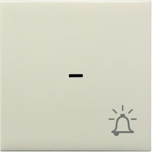Kontrollwippe m. Klingel-Symbol, creme