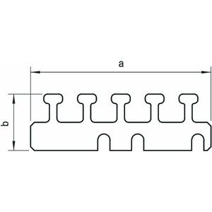 LKM Z100, Leitungshalter 100mm, St, FS