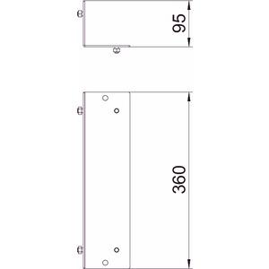 BSKM-GA 1025RW, Gegenplatte Außeneck für abgehängte Montage 100x250, St, L, reinweiß, RAL 9010