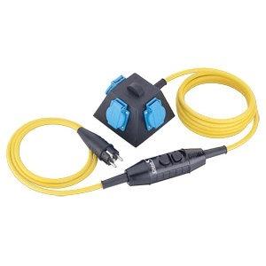 C03-/3/PR03/1,5/SCH11, Schutzverteiler 4,5m 3G1,5mm² 3xSchukoPRCD-S