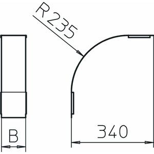 DBV 110 150 F DD, Deckel für Vertikalbogen 90° fallend B150mm, St, DD