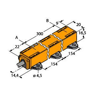 LI300P1-Q17LM1-LIU5X2, Induktiver Linearwegsensor
