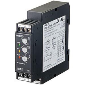 K8AK-VS2 24VAC/DC, 1-Ph.-Spannungsüberwachung: Über- oder Unterspannung bis 150 VAC/DC