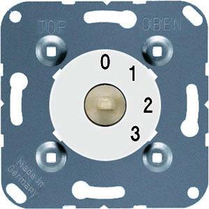 1101-4 WW, Drehschalter, 3-Stufenschalter m. Nullstellung 16AX250V~ 250 V ~, alpinweiß