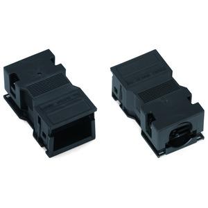 Zugentlastungsgehäuse 2-polig mit Rastschelle für 1 Leitung 5,0 … 9,0 mm 35 mm schwarz