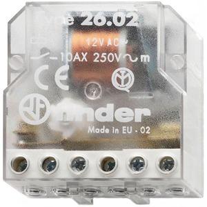 26.08.8.230.0000, Stromstoßschalter für Chassis oder UP-Dose, 2 Schließer 10 A, 4 Sequenzen, für 230 V AC