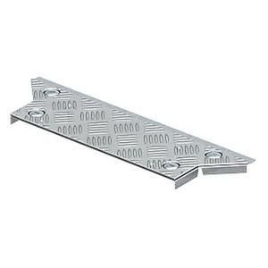 DFAA BKS200 DD, Deckel Anbau-Abzweigstück mit ALU-Riffelblechabdeckung B200mm, Alu, DD