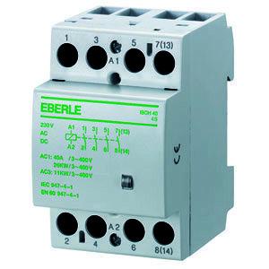 ISCH 40-4 S, Installationsschütz brummfrei, AC 230V, 4 S,  40 A, Masse: 54x85x58mm