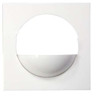 Zentralplatte Indoor 180 S1 reinweiß glänzend, äh, Zentralplatte zum Einbau eines Sensoreinsatzes Indoor 180 in ein Berker Schaltermodul S.1