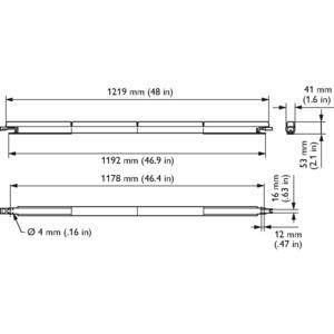 LS515X LED5/4000 100-240V L1220 NB PD, eW Fuse Powercore - Neutralweiß - 1219 mm - Weiß - Farbe: Weiß - Länge: 1219 mm