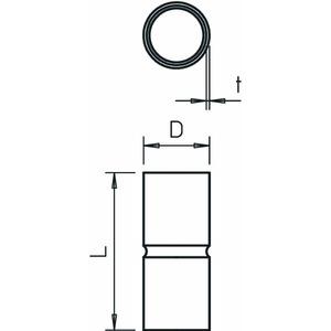 SV50W FT, Stapa Steckmuffe ohne Gewinde Ø50mm, St, FT