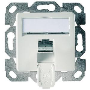 J00020A0505, Anschlussdose AMJ45 8 K Up/50 Cat.6A(IEC) alpinweiß