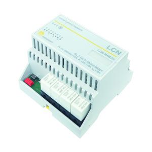 LCN - R4M2H, Relaismodul für 4x2 Jalousiemotore (230V/8A) inkl. Versorgung