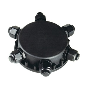 ANSCHLUSSBOX RUND, 6-fach, IP55, 14mm Kabeldurchmesser