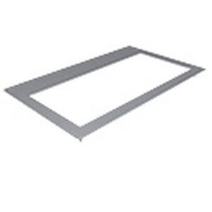 Zum flächenbündigen Einbau in Tischplatte für CablePort flex 7448 000 020, Außenmaß: 361 x 220 mm