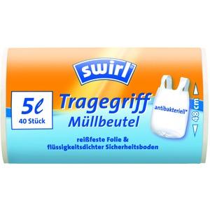 5 l Tragegriff Müllbeutel   VPE, Swirl®   5 l Tragegriff Müllbeutel, VPE