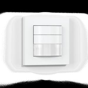 HF 180 KNX - weiß, Präsenzschalter Hochfrequenz, Unterputz, IP20, 180° Reichweite max: r = 8 m (101 m²)