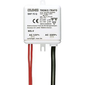 SNT 70 Q, Tronic-Trafo, Nennspannung: AC 230 V ~, 50/60 Hz, Nennleistung: 20 bis 60/70 W