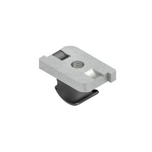 GSF 0406, Schräggleitmutter mit Klemmfeder, Gewinde M6, Höhe 4 mm, Stahl, galvanisch verzinkt DIN EN ISO 2081/4042, dickschichtpas