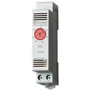 7T.81.0.000.2403, Thermostat für Schaltschrank, Reiheneinbaugerät 17,5 mm breit, 1 Öffner 10 A, einstellbar von +0 bis +60 °C