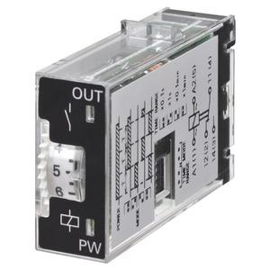 H3RN-11-B 24VAC, Zeitrelais, steckbar, 5-Pin, Multifunktion, 0.1m-10h, 1 Wechsler, 3A, 24VAC Ansteuerung, schwarz