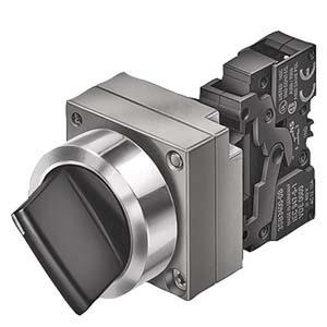 3SB3608-2EA11, Knebelschalter, 22mm, rund schwarz