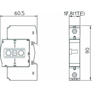 V20-C 1-280, SurgeController V20 einpolige Ausführung 280V