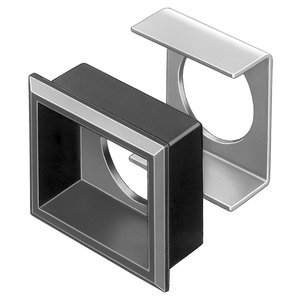Frontrahmen-Set für flachen Einbau Druck-/Schlüsselschalter schwarz 24x30 Ks