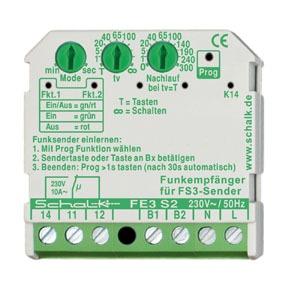 FE3 S2, Funk-Empfängerschalter 1 Wechsler, 230V AC (UP)