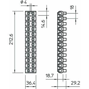 80 CE SW/EKL 5E, Reihenlüsterklemme 35,0mm², PP, schwarz