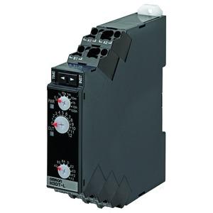 H3DT-L2 24-240VAC/DC, Zeitrelais, DIN-Hutschienenmontage, 17.5mm, erweiterte Multifunktion, 0.1s-1200h, 2 Wechsler, 5A, 24-240V AC/DC, Push-In
