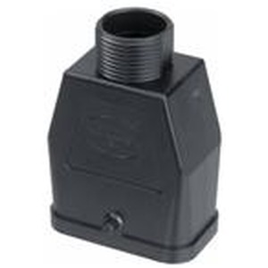 Tüllengehäuse, für Han-Compact Halbverschraubung, Baugröße: Han-Compact, Längsbügel, gerader Kabeleingang, 1x Pg 16