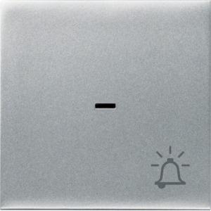 Kontrollwippe m. Klingel-Symbol, silber