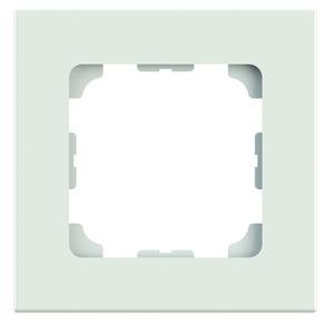 Abdeckrahmen 1-fach 81x81 alpinweiß